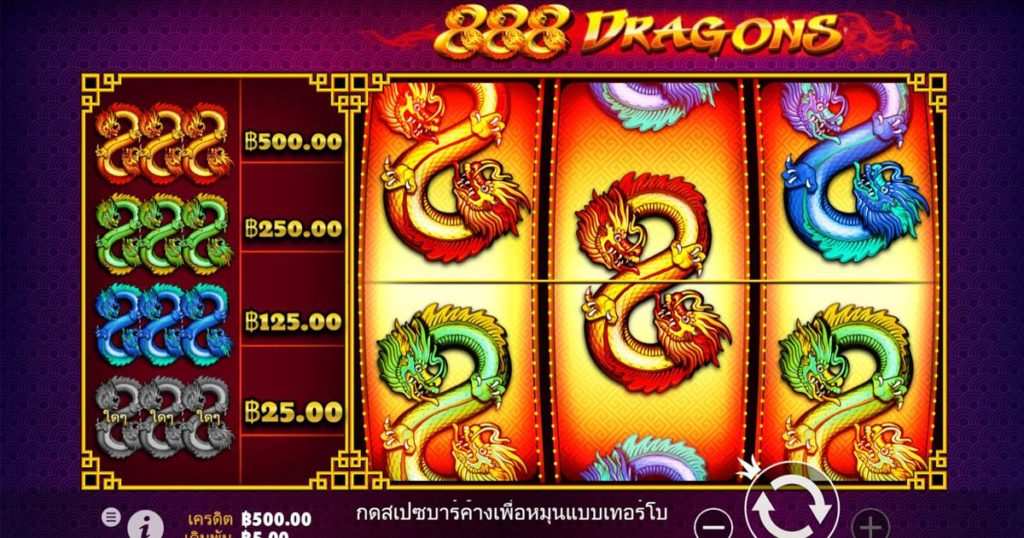เกมสล็อต 888 dragons ของ fun88