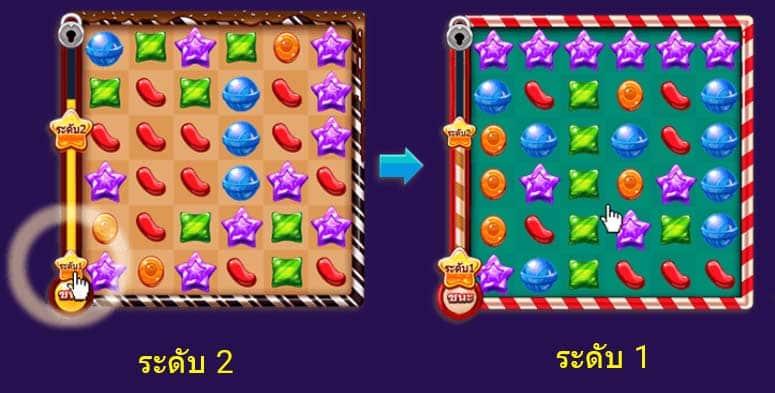 เลือกเล่นระดับเกมแคนดี้ได้เงิน candy pop