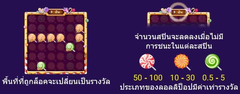 เกมแคนดี้ candy pop โบนัสระดับ 3