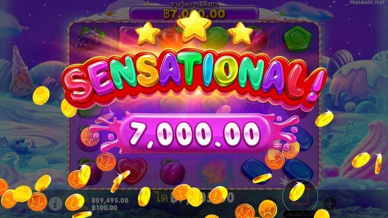 ชนะรางวัล 7000 บาท เกม Sweet Bonanza Slot