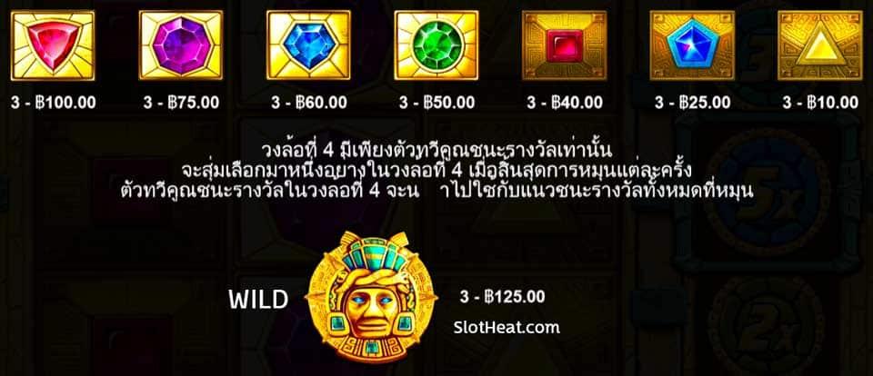 Symbols Aztec Gems Slot