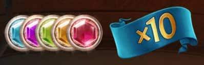 gems and X10 symbols