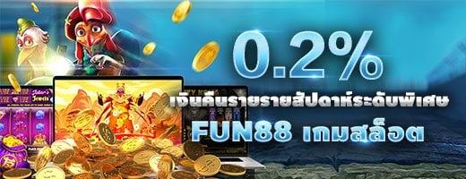 special weekly rebate fun88 slot